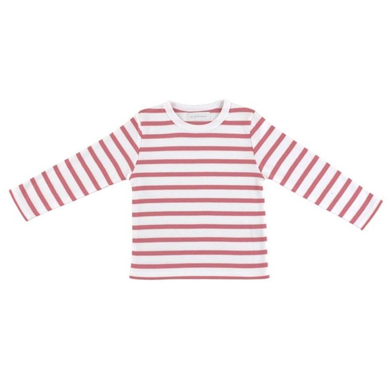 Breton T Shirt Pink & White
