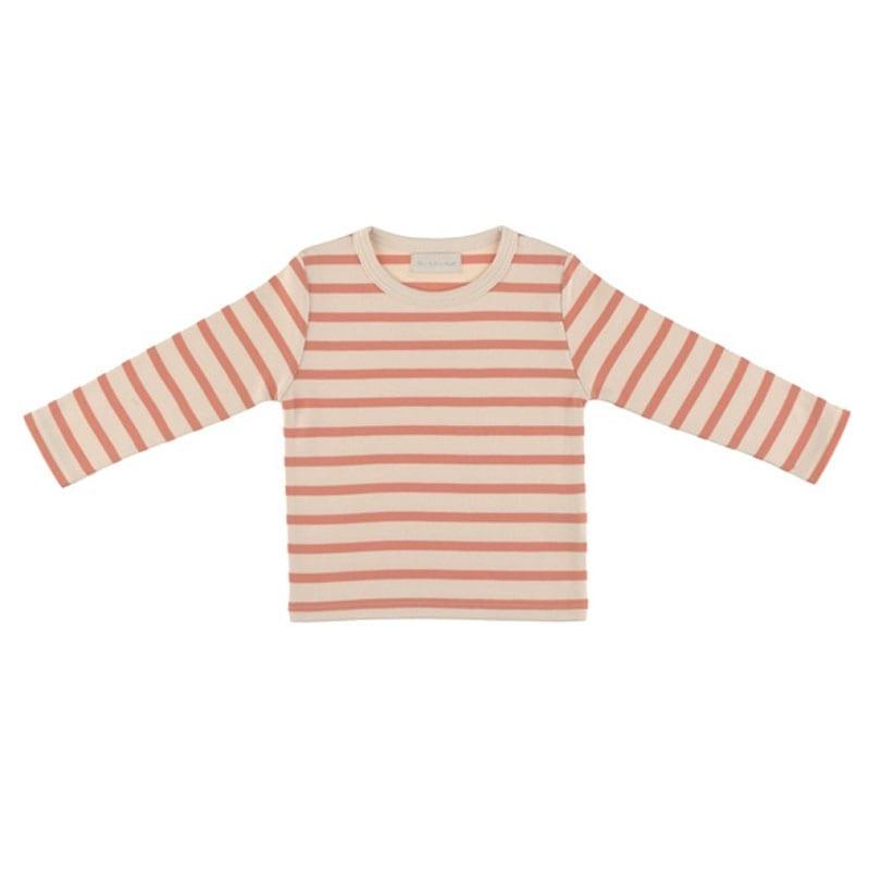 Breton T Shirt Peaches & Cream