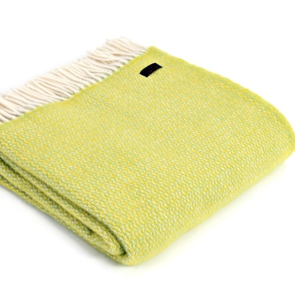 Tweedmill lambswool Throw Illusion zest