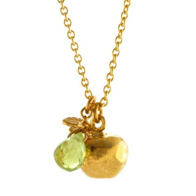 Alex Monroe Apple and Peridot Necklace