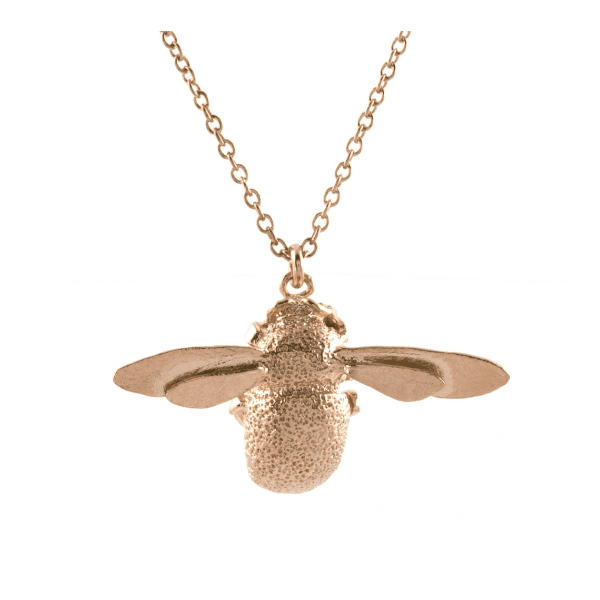 Alex Monroe Bumblebee necklace rose gold