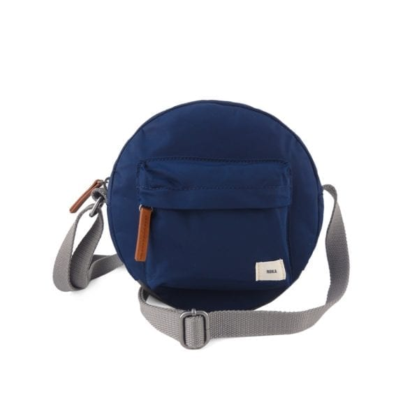 Vegan Roka Paddington Cross Body Bag in Ink blue