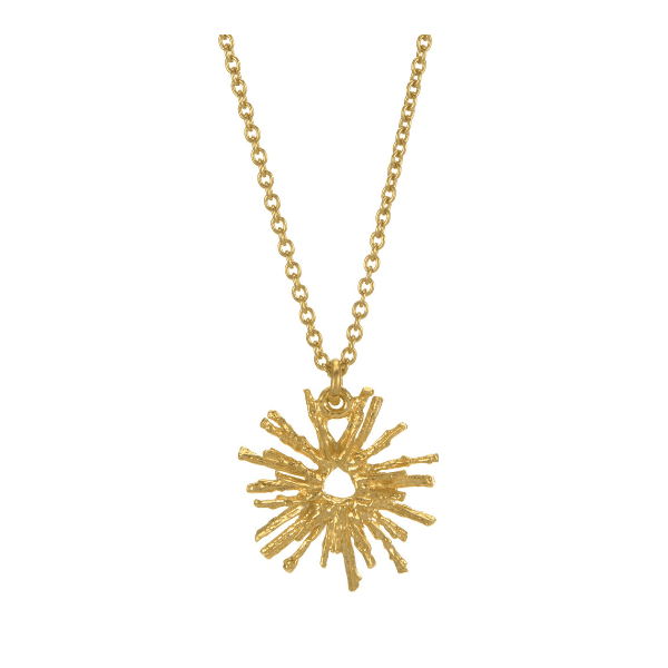 Alex Monroe nest structure gold plate necklace