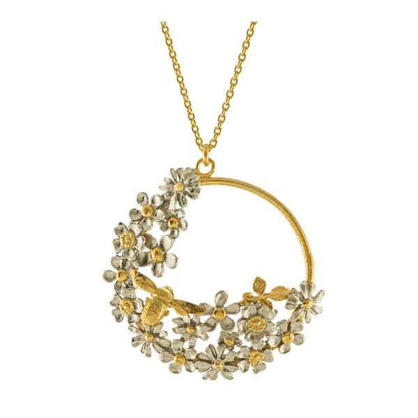 Alex Monroe Spring posy bee loop necklace