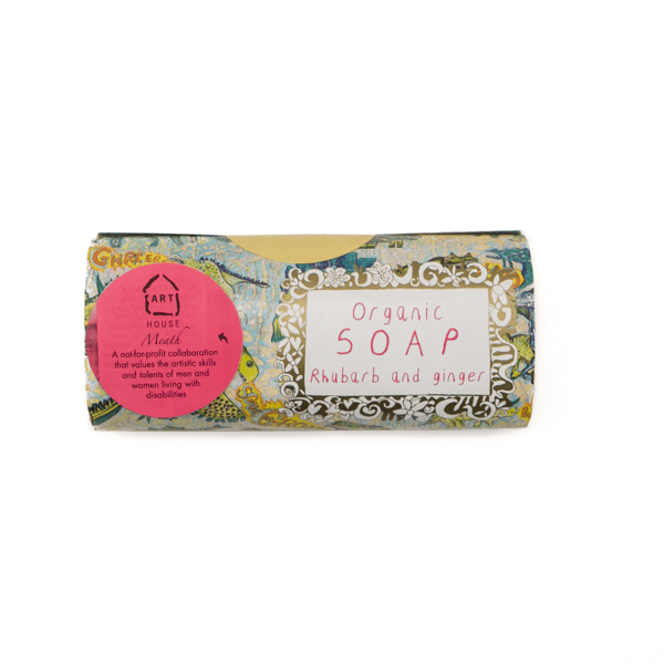 Arthouse Unlimited Organic ginger and rhubarb soap