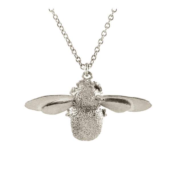 Alex Monroe Luxury jewellery sterling silver bumblebee necklace
