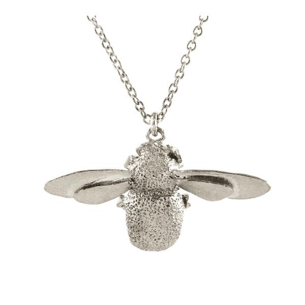 Alex Monroe Luxury jewellery sterling silver bumblebee necklace