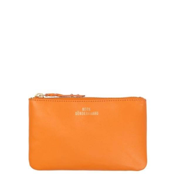 Beck Sondergaard 100% leather Lyla purse in russet orange