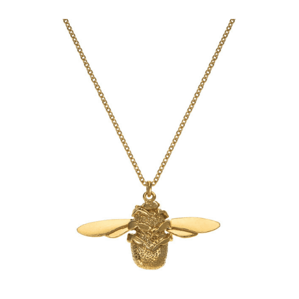 Alex Monroe luxury jeweller Bumblebee necklace gold plated silver