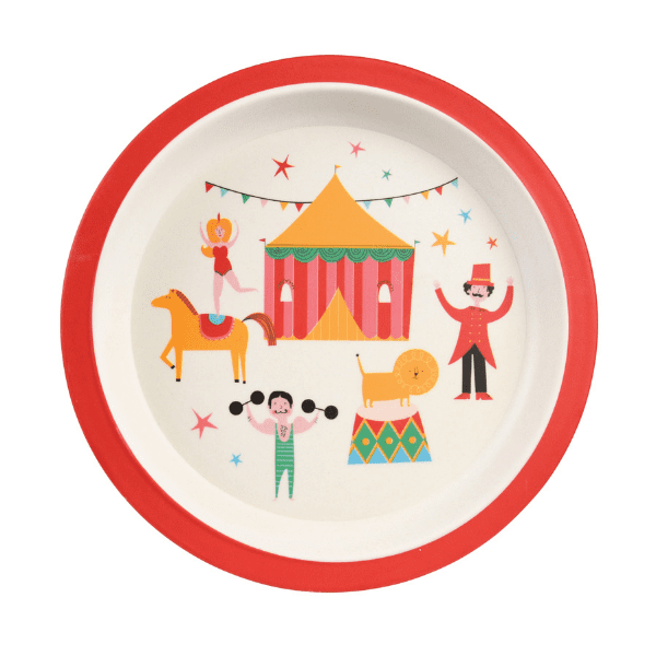 Big top Circus bamboo plate