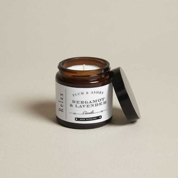 Plum and Ashby scented travel candle lavender and bergamot