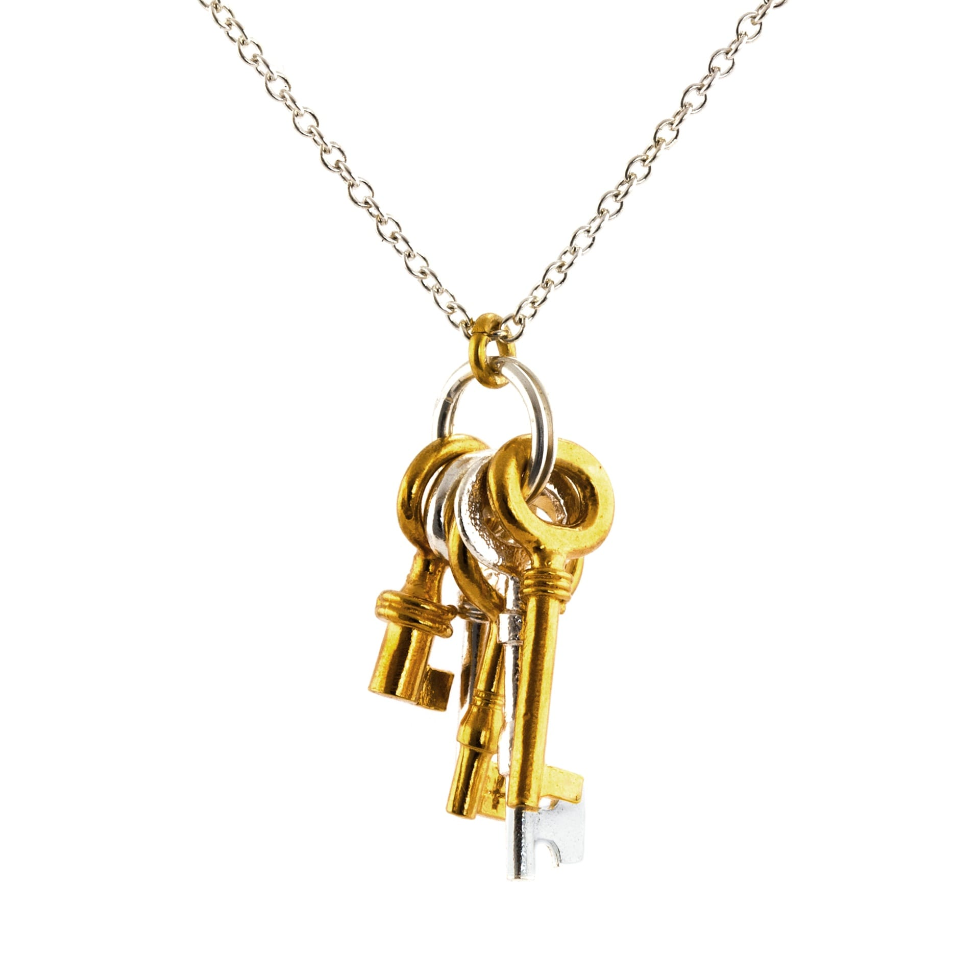 Alex Monroe luxury jewellery bunch of keys necklace