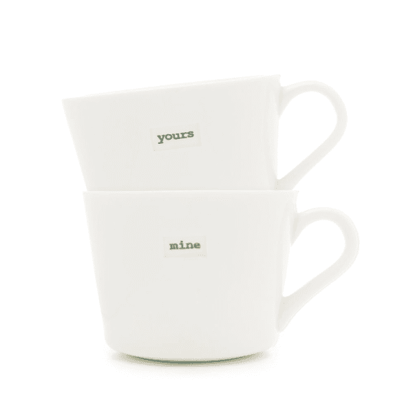 Keith Brymer Jones Bucket Mug pair Yours Mine