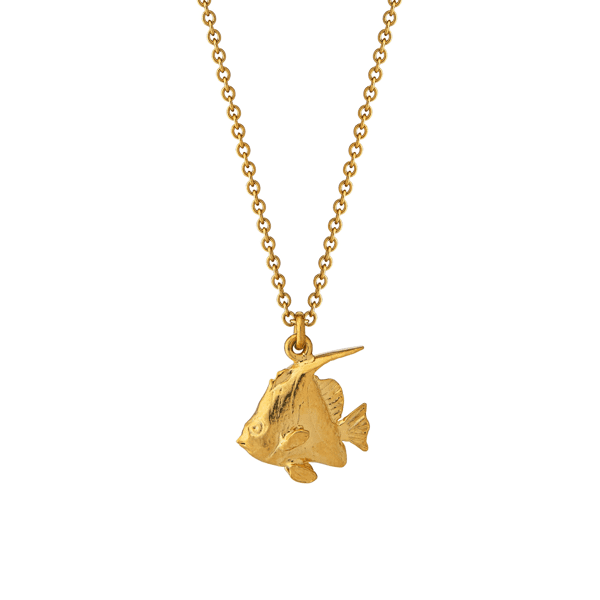 Luxury Jeweller Alex Monroe Angelfish necklace gold plate