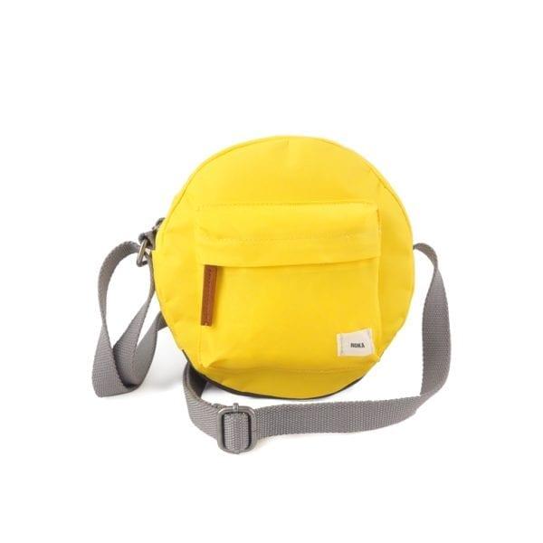 Vegan Roka Paddington Cross Body Bag in yellow