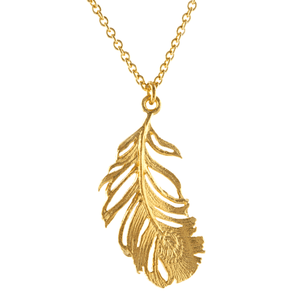 Alex Monroe luxury jewellery feather necklace