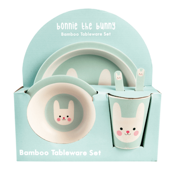 Bonny the Bunny bamboo dining set for children