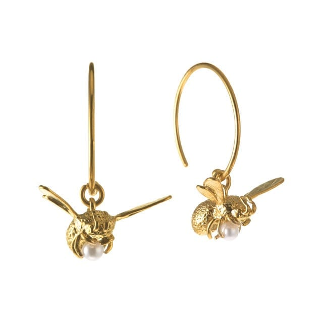 Alex Monroe luxury jewellery flying bee earrings