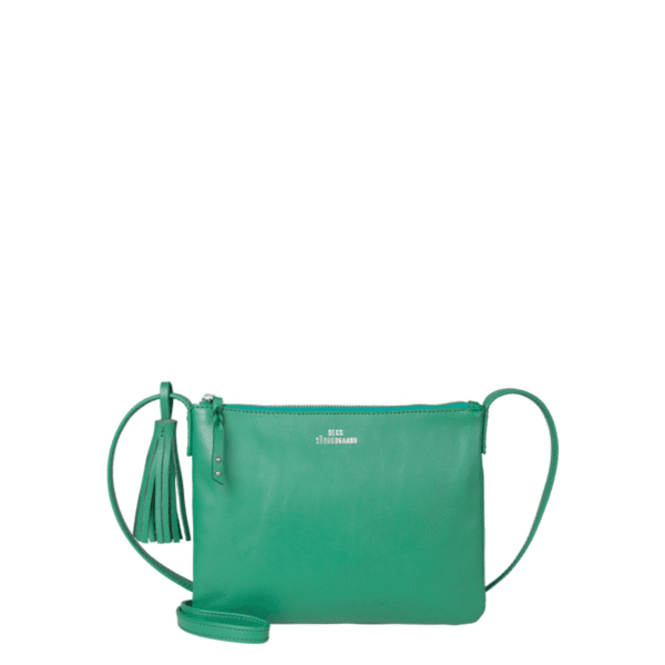 Green leather Beck Sondergaard shoulder bag