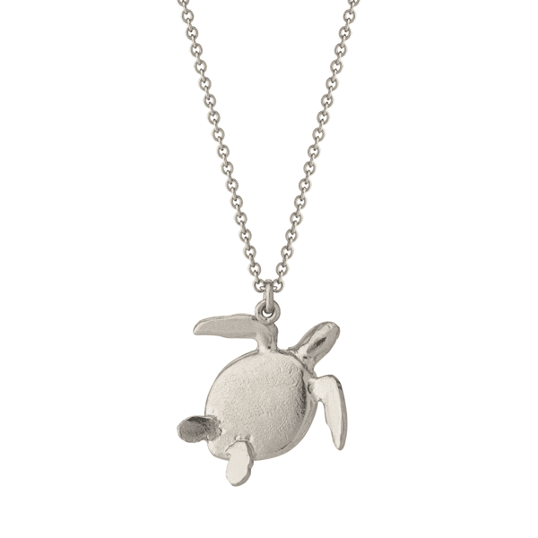 luxury jeweller Alex Monroe silver sea turtle necklace