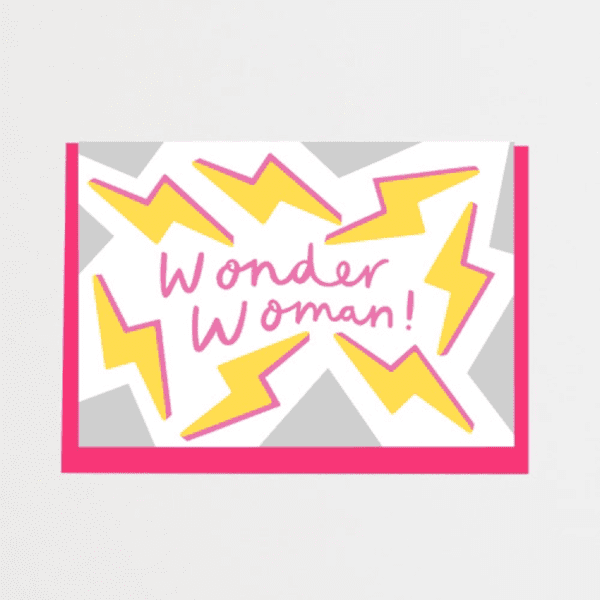Alison Hardcastle Tatty Devine Wonder Woman Card