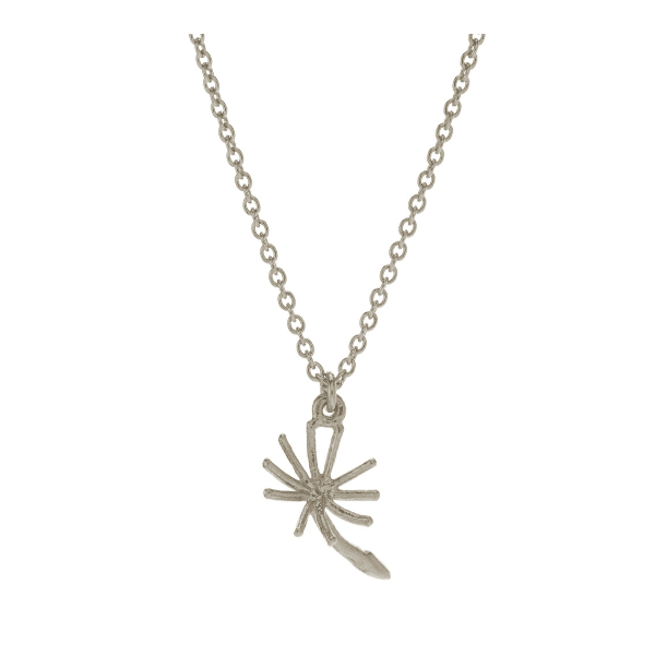 Alex Monroe dandelion fluff silver necklace