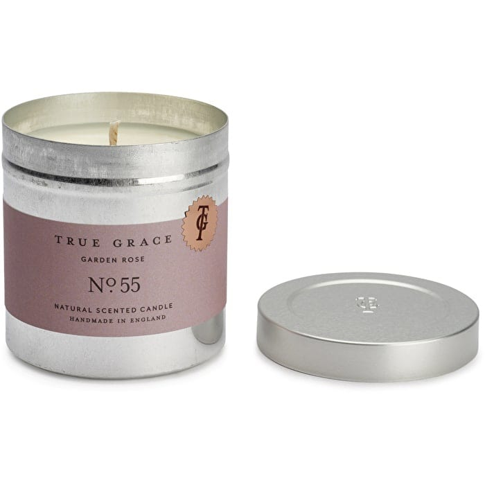True grace garden rose scented tinned travel candle