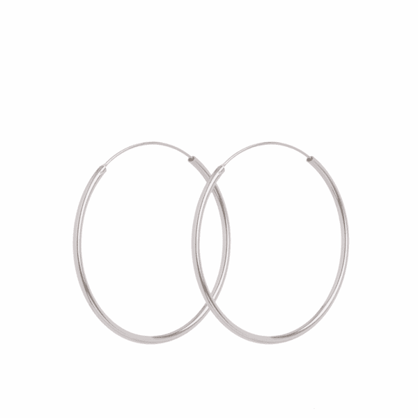 Luxury jewellery from Pernille Corydon, midi hoop earrings in silver