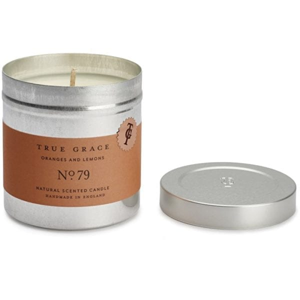 True grace luxury scented candle oranges and lemons