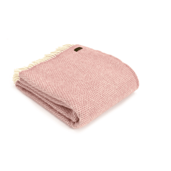 Tweedmill beehive Throw dusty pink