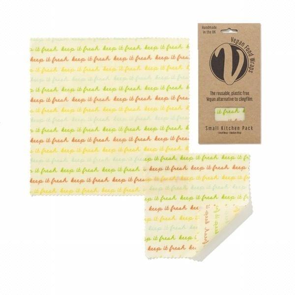 Vegan wax food wraps small kitchen pack