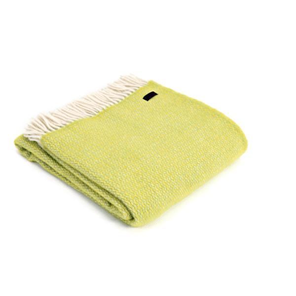 Tweedmill Illusion Throw blanket in zest