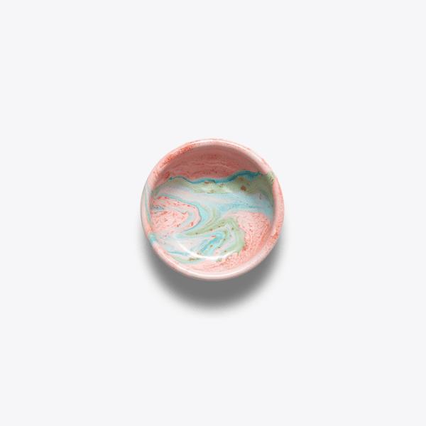 Bornn Enamel Blush pink marble sign bowl