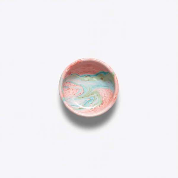Bornn Enamel Blush pink marble sign bowl
