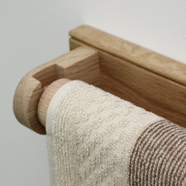 Creamore Mill Oak Towel Rail