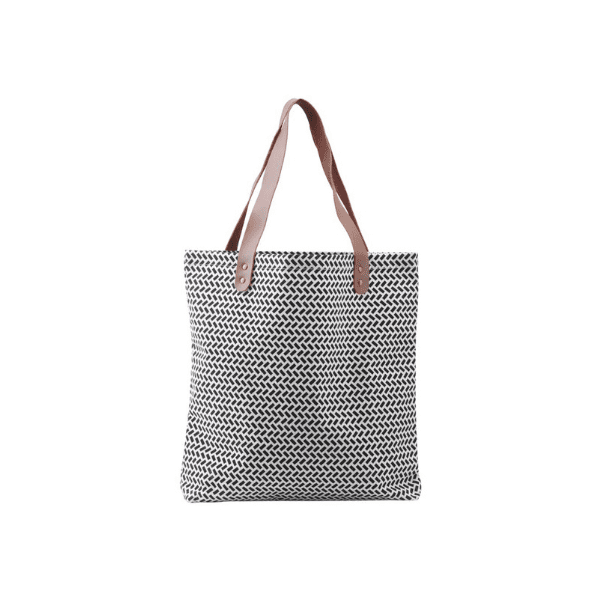 Monochrome reusable shopping bag