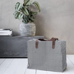 Monochrome reusable storage bag