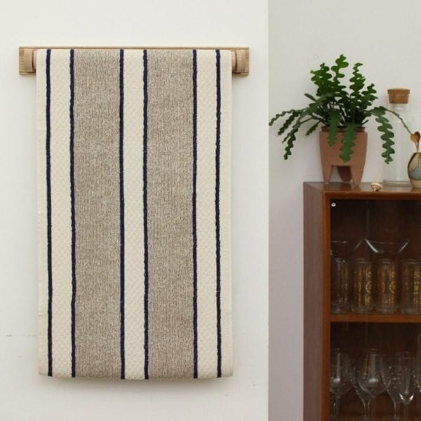 Blue and White Stripe Cotton Linen Roller Towel