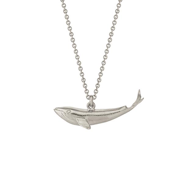 Luxury jewellery baby whale pendant by Alex Monroe in sterling silver