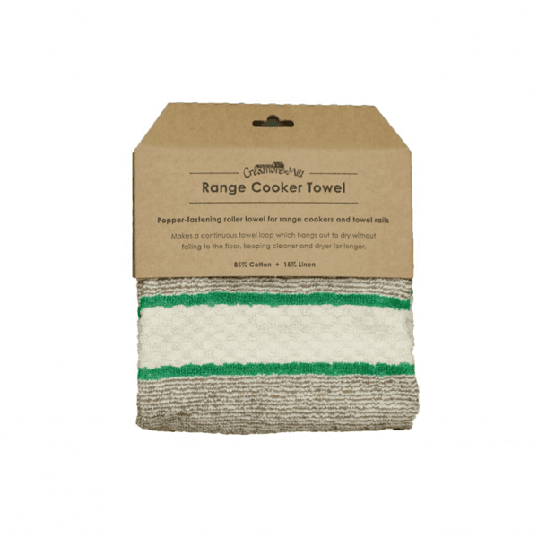 Creamore Mill Popper Range Towel in Green