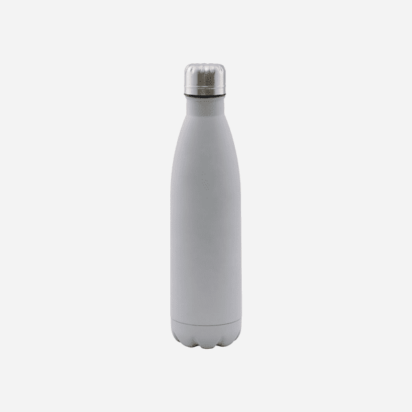Light grey insulated reusable water bottle