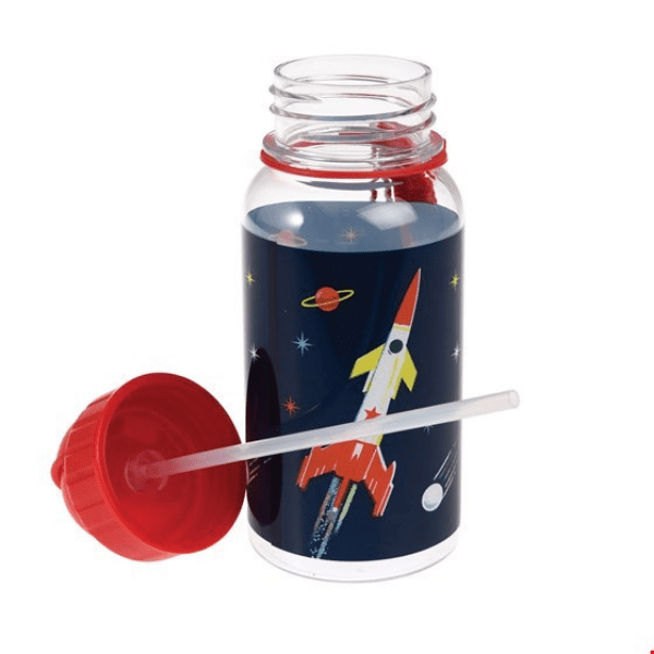 Solar system space reusable water bottle
