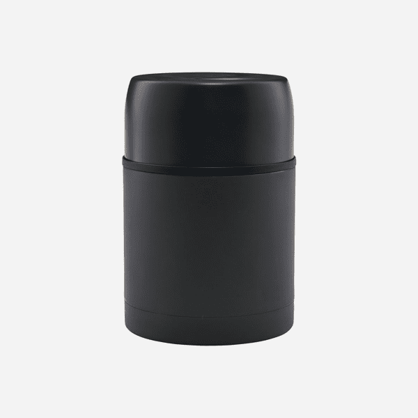 Dark grey stainless steel insulated food container
