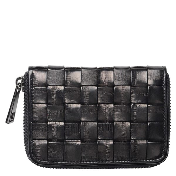 Beck Sondergaard woven eel skin purse black