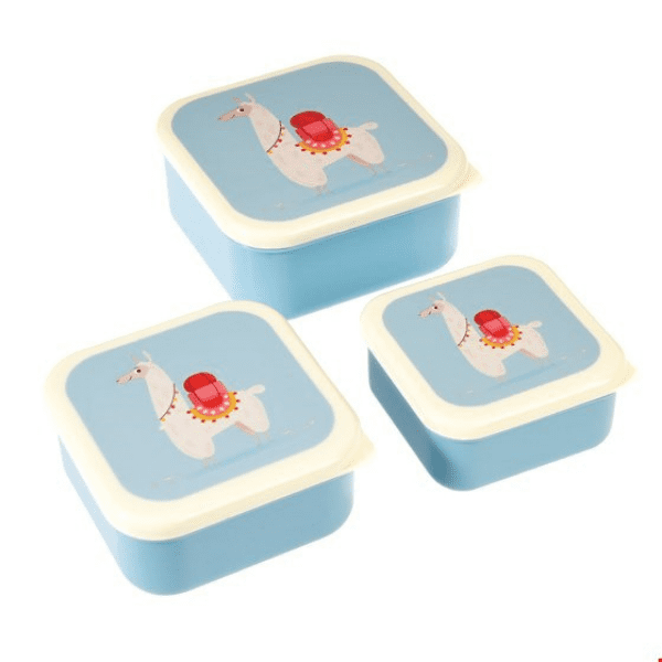 Dolly the Llama set of 3 lunch boxes