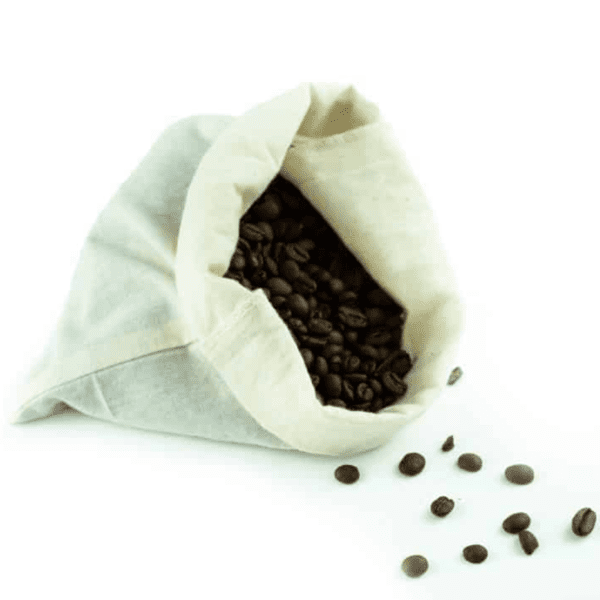 Medium organic cotton drawstring muslin produce bag