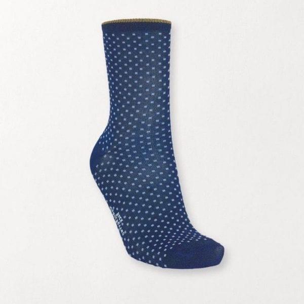 Beck Sondergaard Dina Dots Socks Twighlight Blue