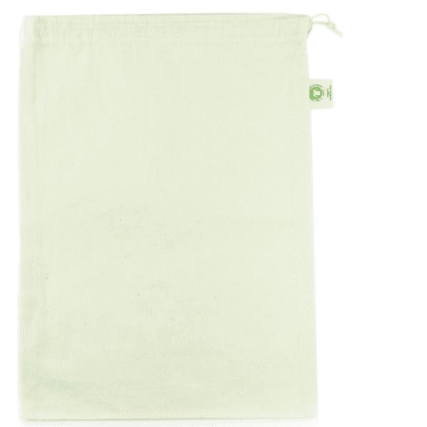 Small organic cotton drawstring produce bag