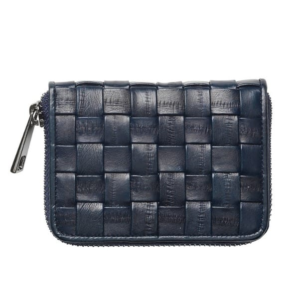 Beck Sondergaard Braidy Eel Skin Purse in Navy Blue