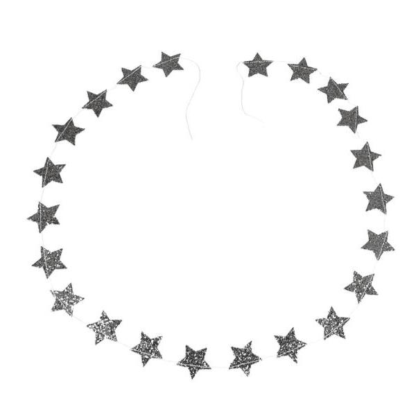 Silver Stars Garland